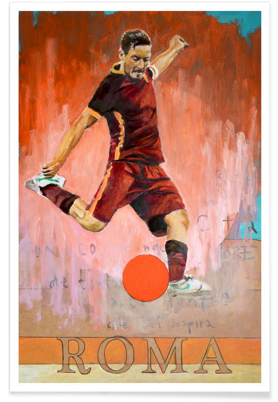 Football, One Love Roma Poster