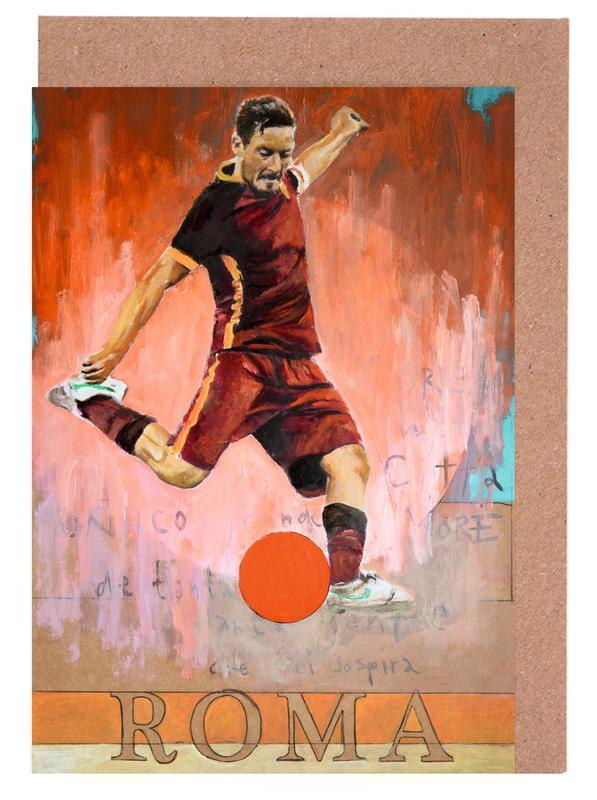 Football, One Love Roma Greeting Card Set