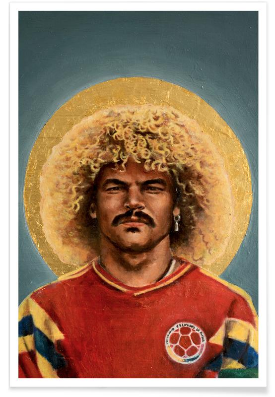 Football Icon - Carlos Valderrama Poster