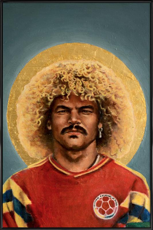 Football Icon - Carlos Valderrama Framed Poster