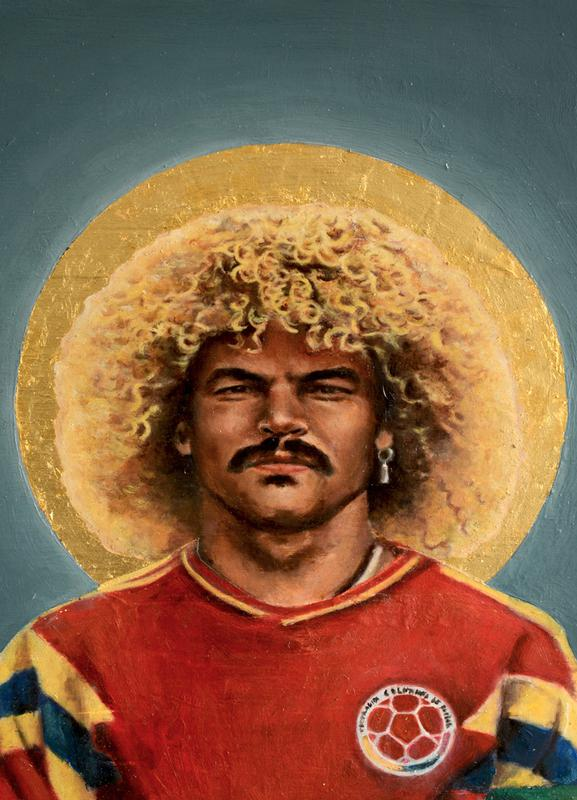 Football Icon - Carlos Valderrama Canvas Print