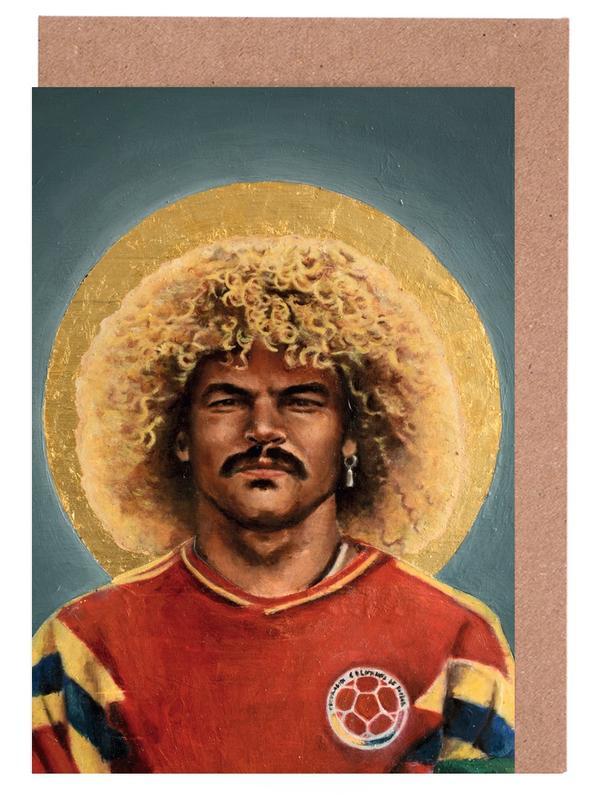 Football, Football Icon - Carlos Valderrama cartes de vœux