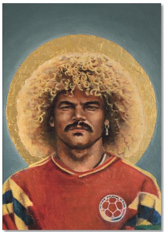 Football, Football Icon - Carlos Valderrama Notepad