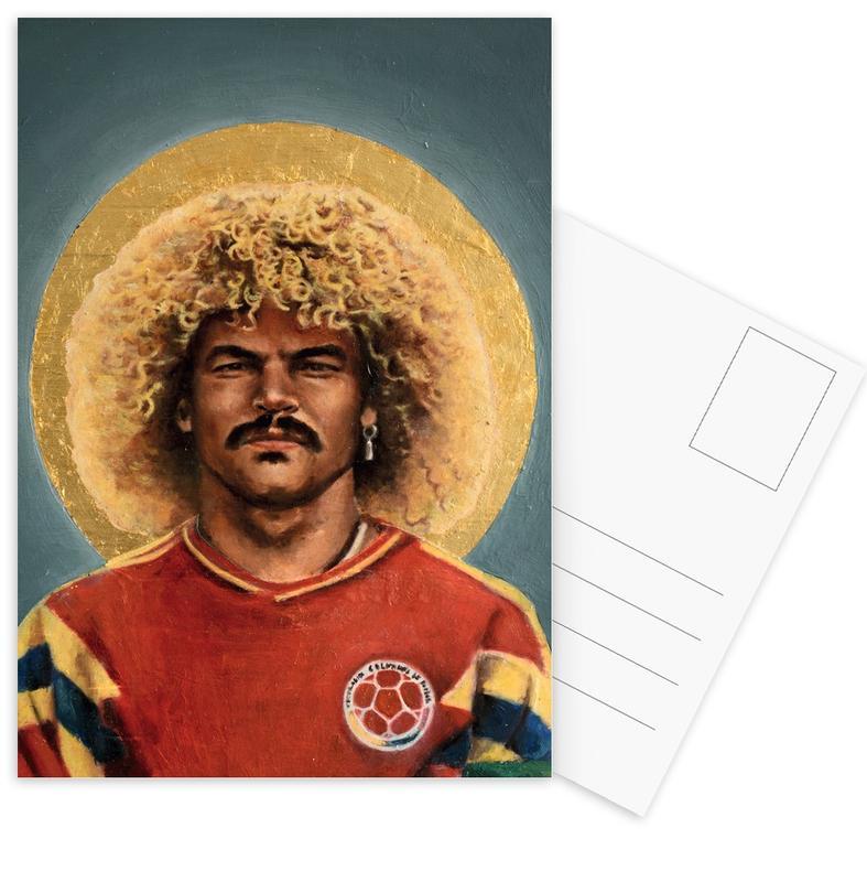 Football Icon - Carlos Valderrama Postcard Set