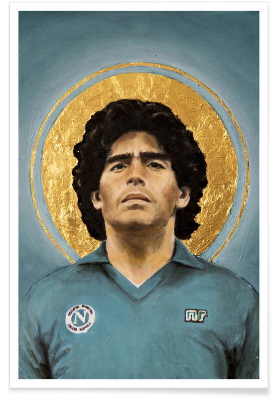 Foldbold, Football Icon - Diego Maradona Plakat