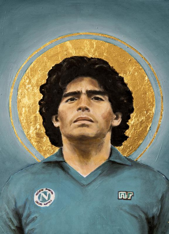Football Icon - Diego Maradona Canvas Print