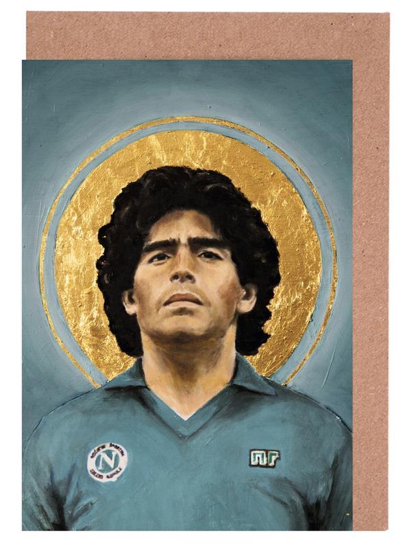 Football, Football Icon - Diego Maradona cartes de vœux
