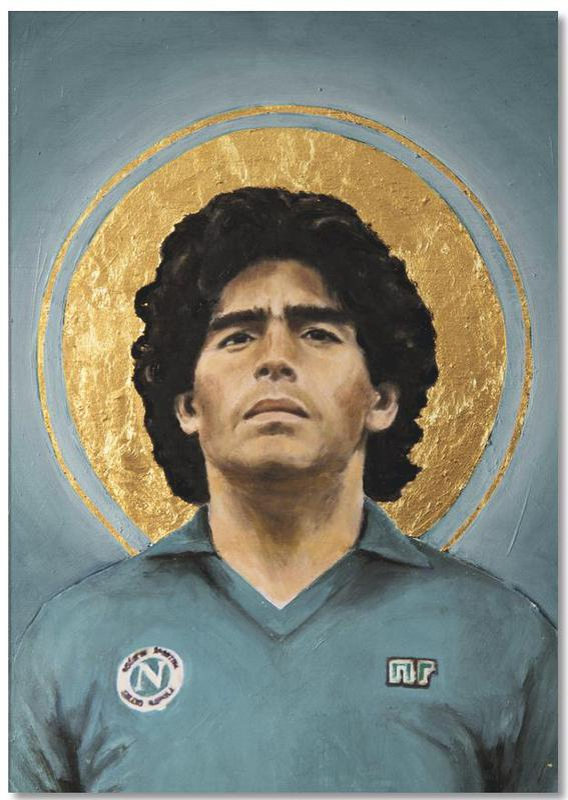 Football Icon - Diego Maradona Notepad