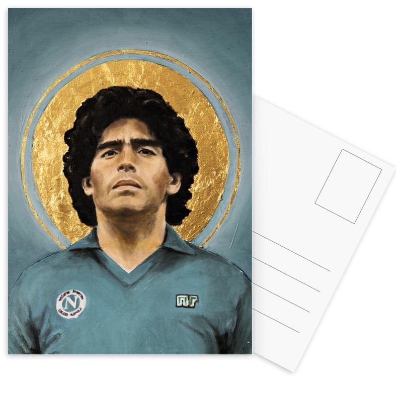 Football Icon - Diego Maradona Postcard Set