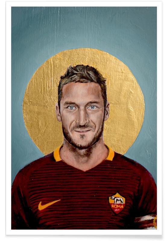 Football Icon - Francesco Totti Poster