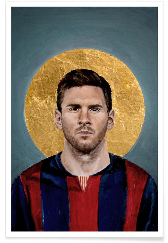 Football Icon - Lionel Messi Poster