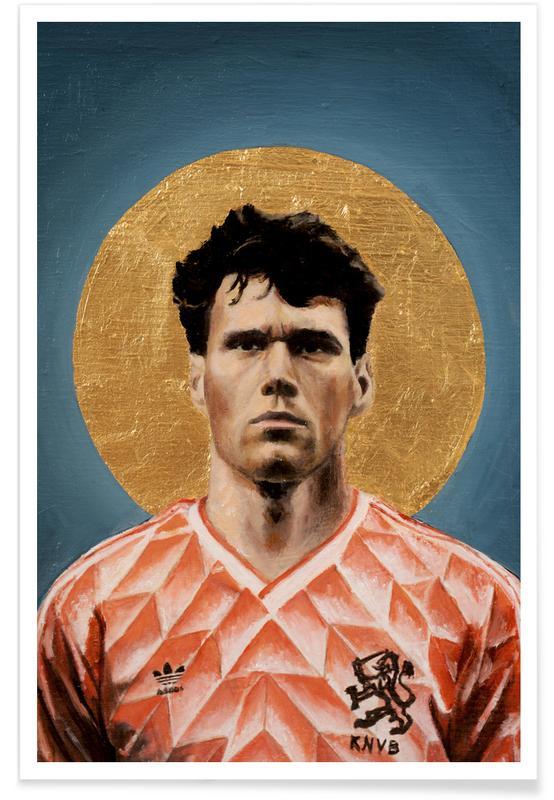 , Football Icon - Marco van Basten affiche