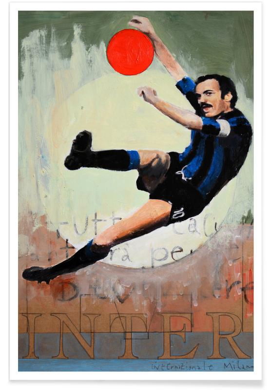 Voetbal, One Love - Inter poster