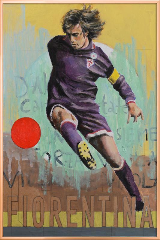 One Love - Fiorentina Poster in Aluminium Frame