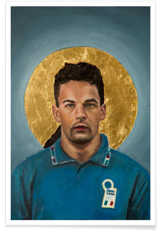 Fußball, Football Icon - Roberto Baggio -Poster