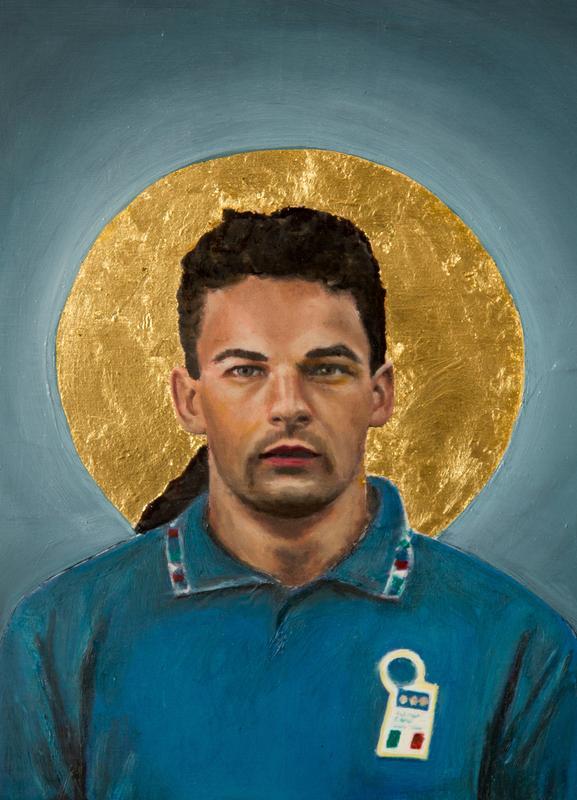Football Icon - Roberto Baggio Canvas Print
