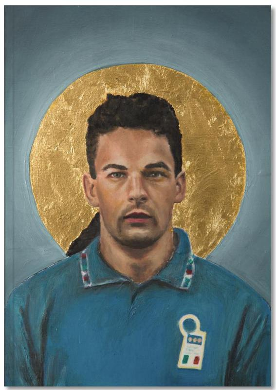Football Icon - Roberto Baggio Notebook