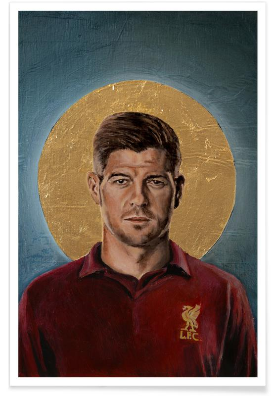Fußball, Football Icon - Steven Gerrard -Poster