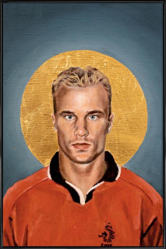Football Icon - Denis Bergkamp Framed Poster