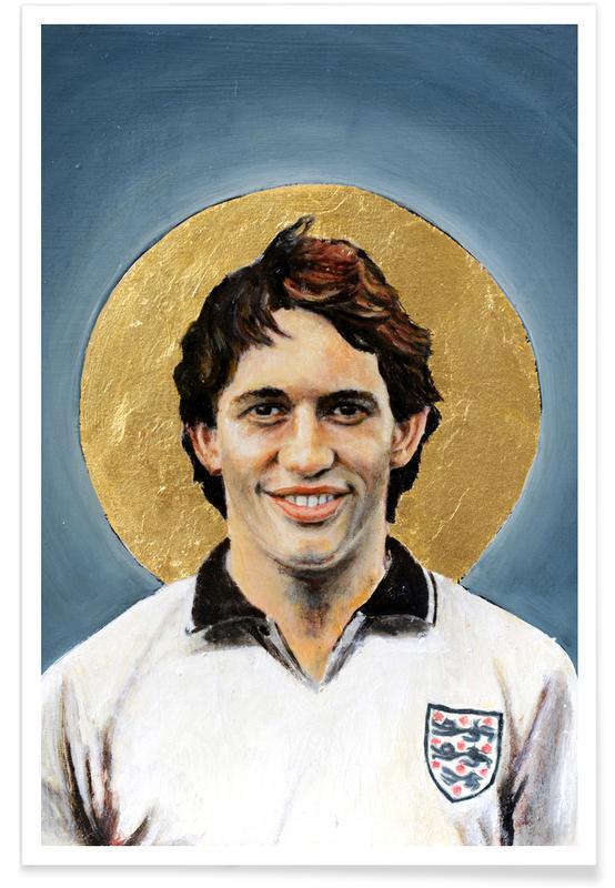 Football, Football Icon - Gary Lineker affiche