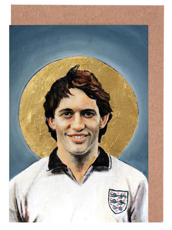 Football, Football Icon - Gary Lineker cartes de vœux