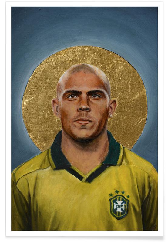 Foldbold, Madrid, Football Icon - Ronaldo Plakat