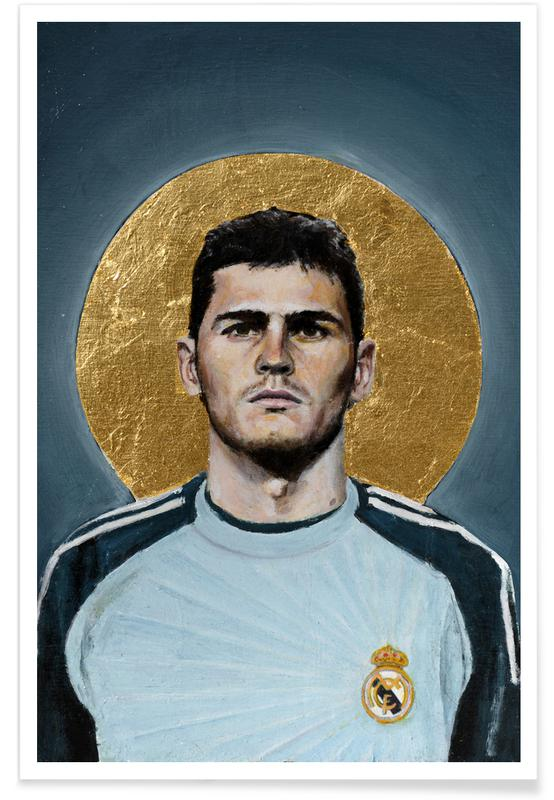 Voetbal, Football Icon - Iker Casillas poster