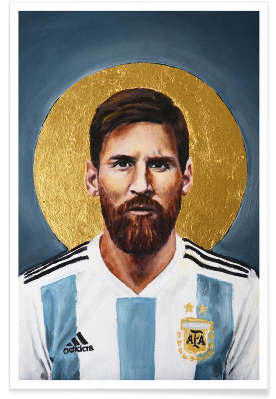 Lionel Messi, Football, Football Icon - Lionel Messi affiche