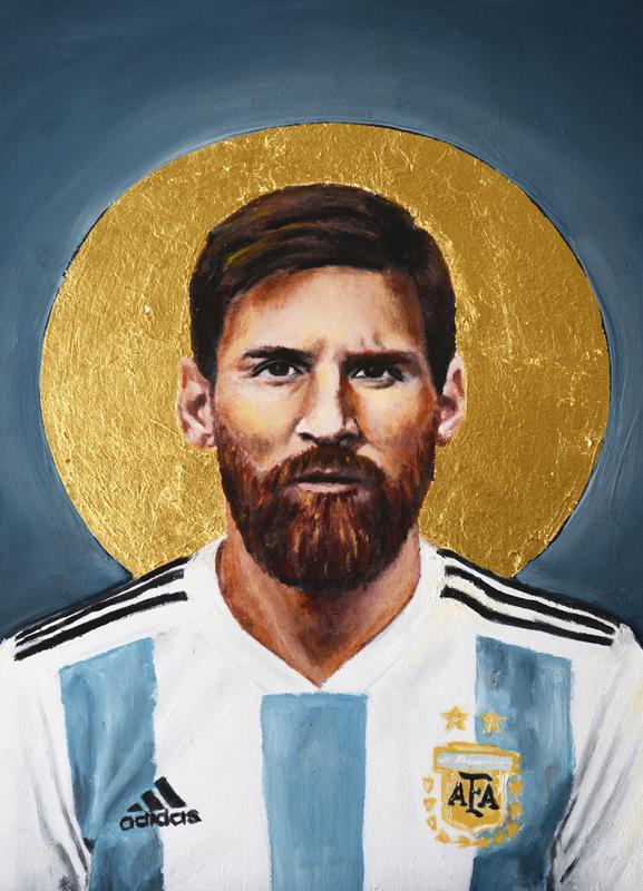 Football Icon - Lionel Messi Canvas Print