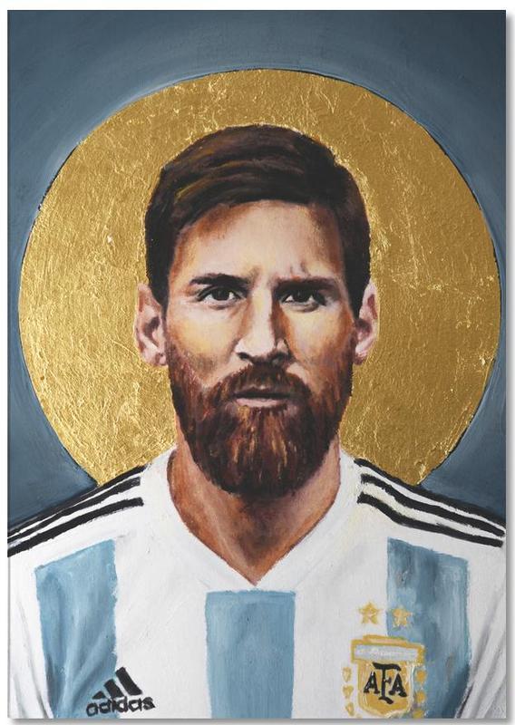 Football Icon - Lionel Messi -Notizblock