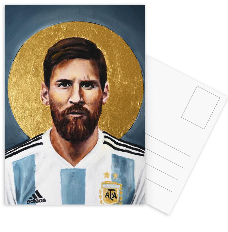 Football Icon - Lionel Messi cartes postales