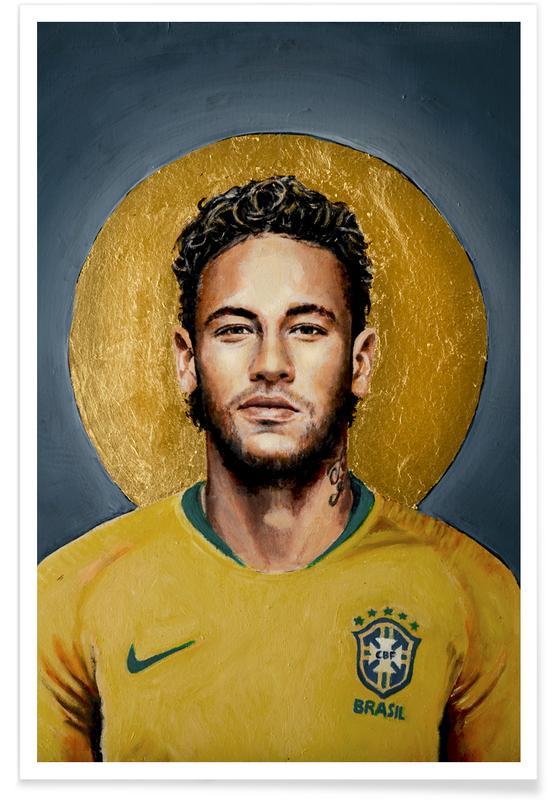 Football, Neymar, Football Icon -Neymar Poster