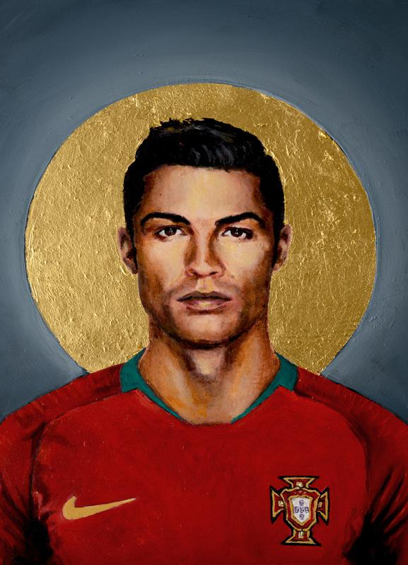 Football Icon - Cristiano Ronaldo Canvas Print