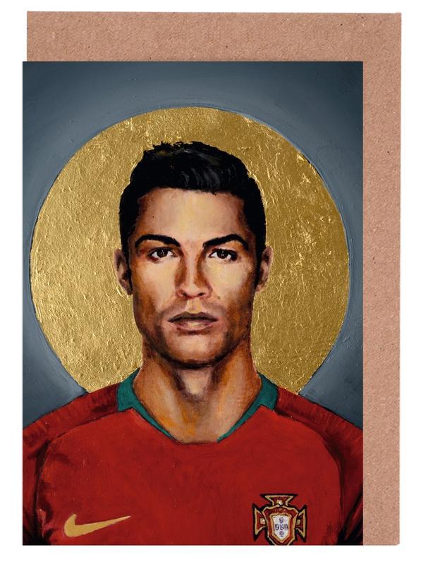 Football Icon - Cristiano Ronaldo Greeting Card Set