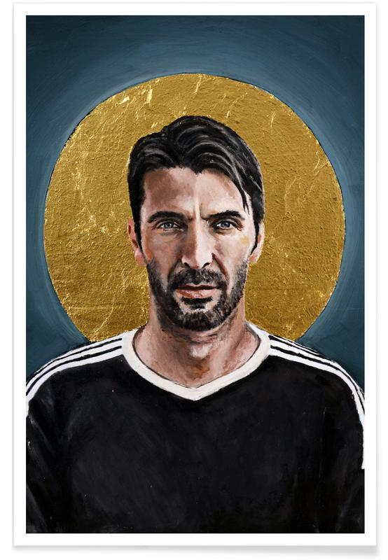 Football Icon - Buffon affiche
