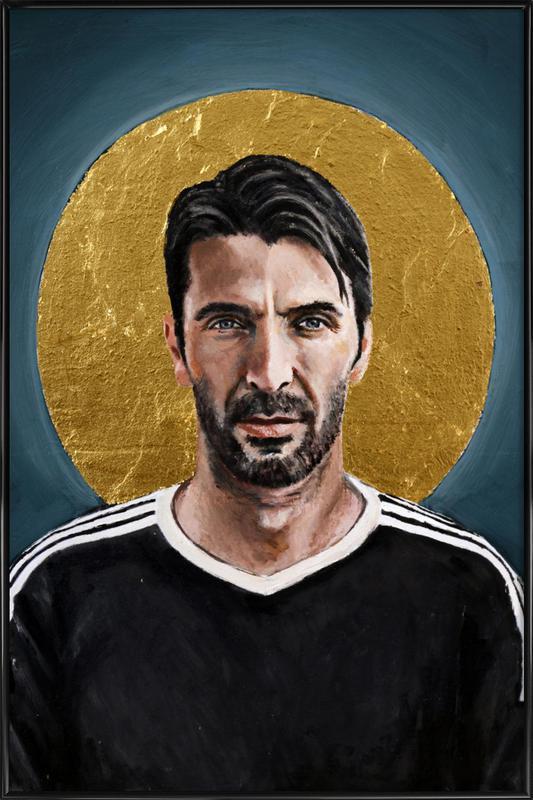 Football Icon - Buffon -Bild mit Kunststoffrahmen