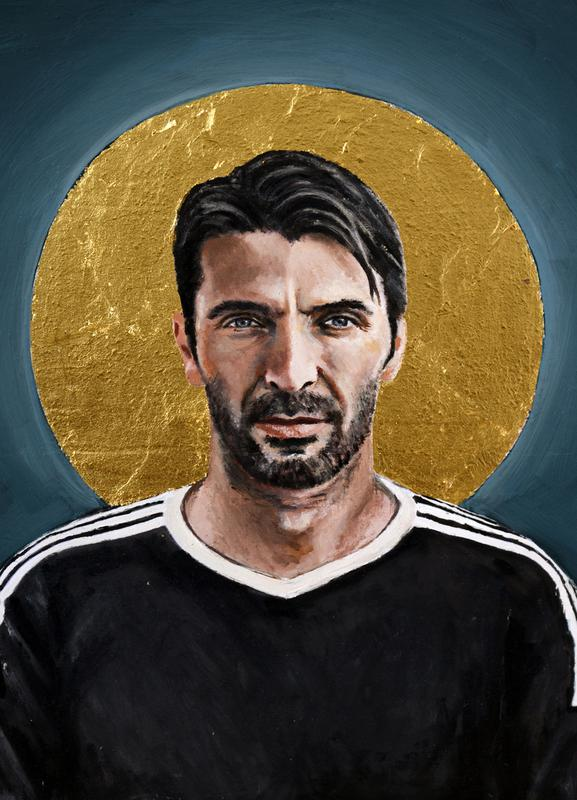 Football Icon - Buffon -Leinwandbild