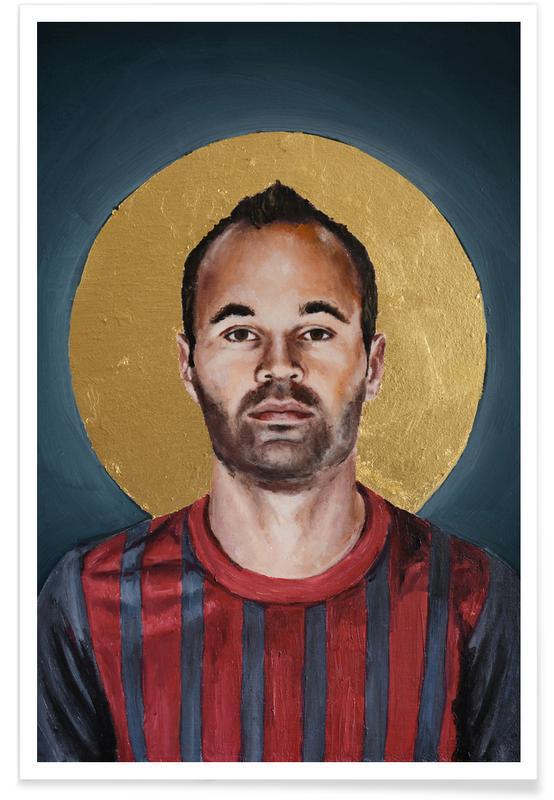 , Football Icon - Iniesta Poster