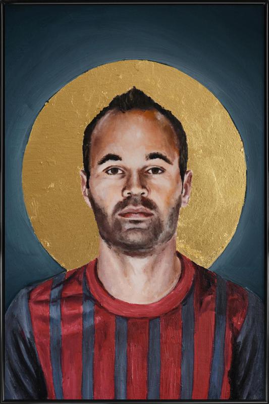 Football Icon - Iniesta Framed Poster