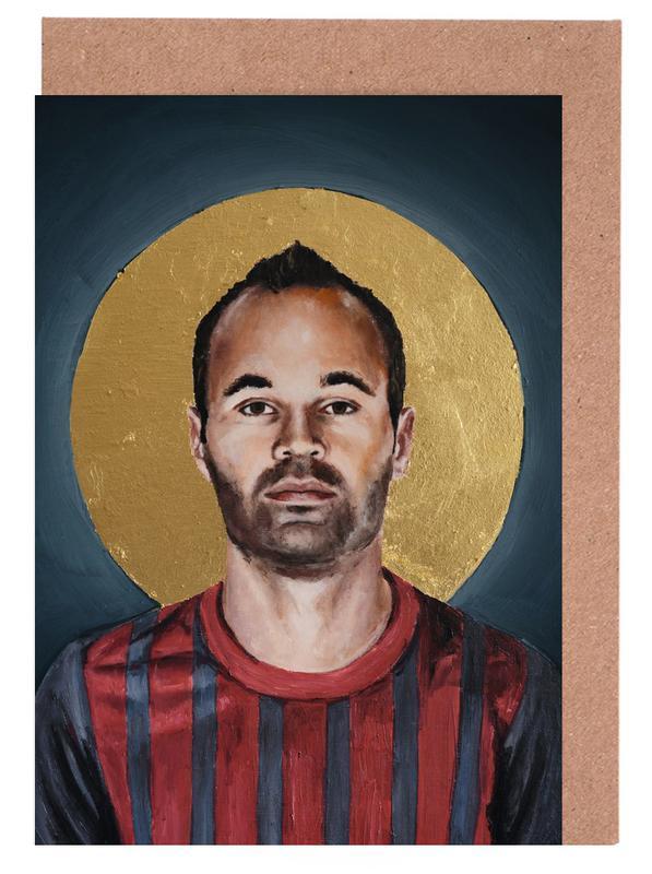 , Football Icon - Iniesta cartes de vœux
