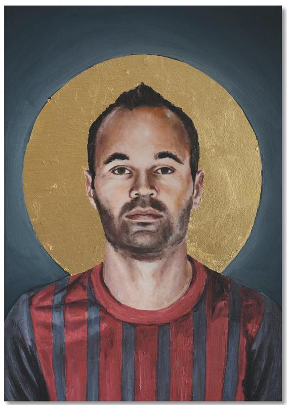 , Football Icon - Iniesta Notepad