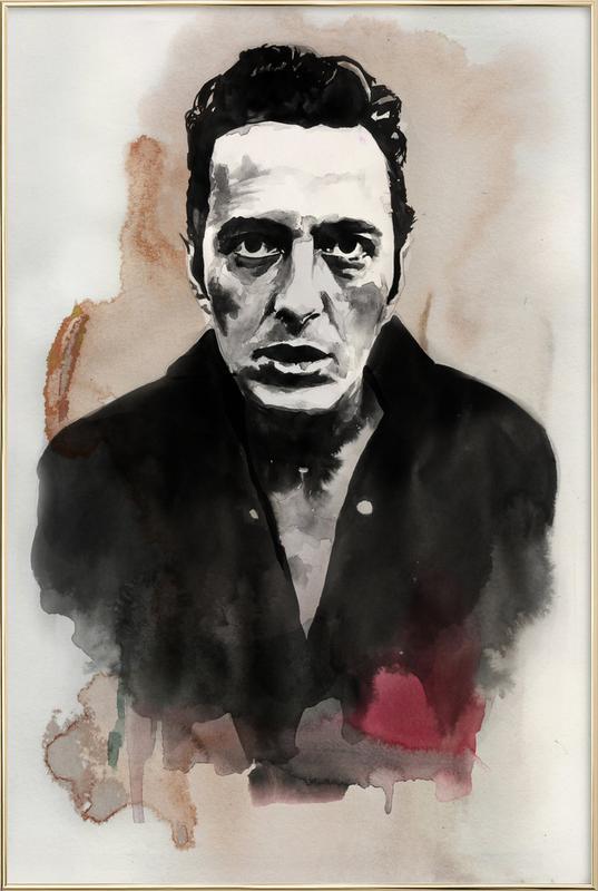 Joe Strummer -Poster im Alurahmen