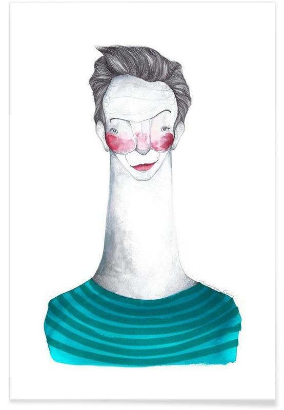Mode-illustratie, Jean-Paul Gaultier poster