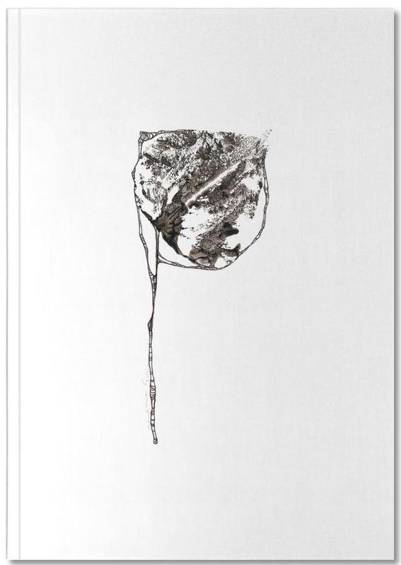 Alphabet et lettres, Noir & blanc, Feuilles & Plantes, P Notebook