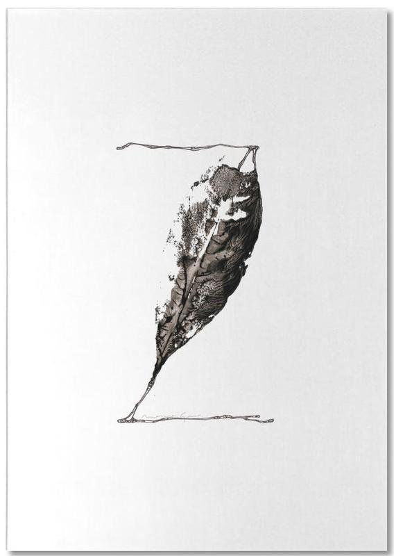Black & White, Leaves & Plants, Alphabet & Letters, Z Notepad