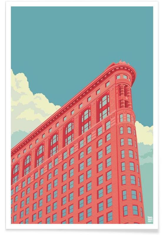 New York, Monuments et vues, Flatiron Building New York City affiche