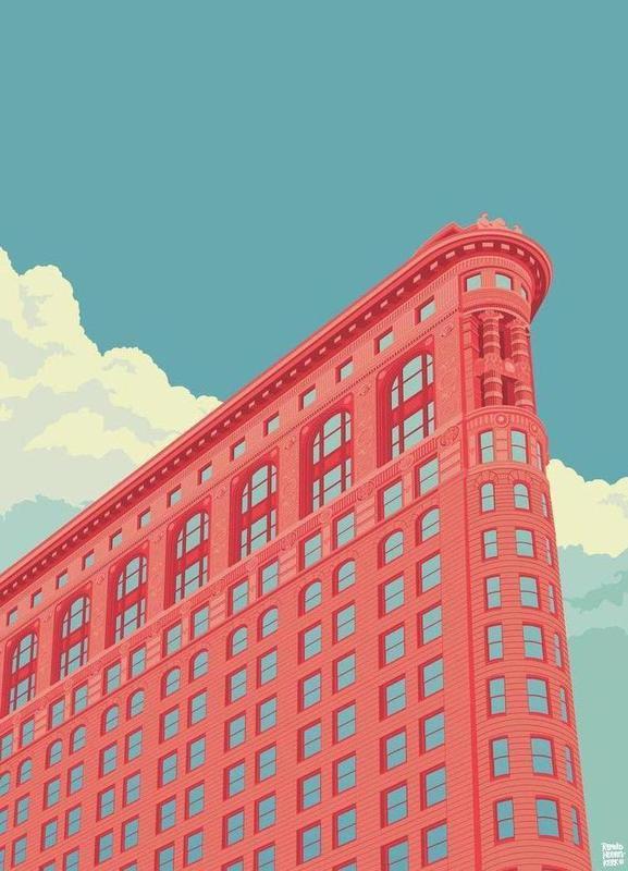 Flatiron Building New York City canvas doek