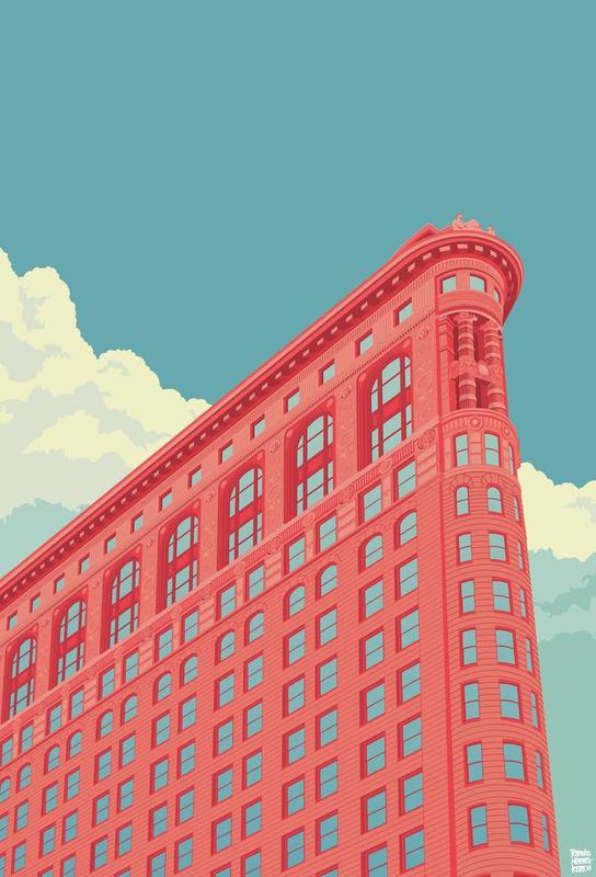 Flatiron Building New York City -Acrylglasbild