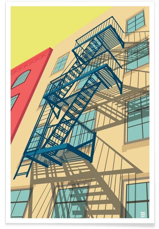 Détails architecturaux, New York, Greenwich Village New York City affiche