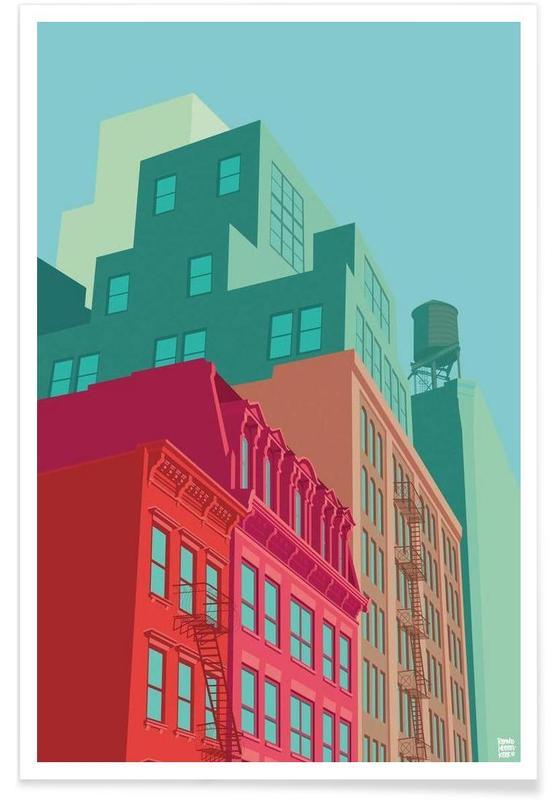 Mulberry Street Soho New York City poster